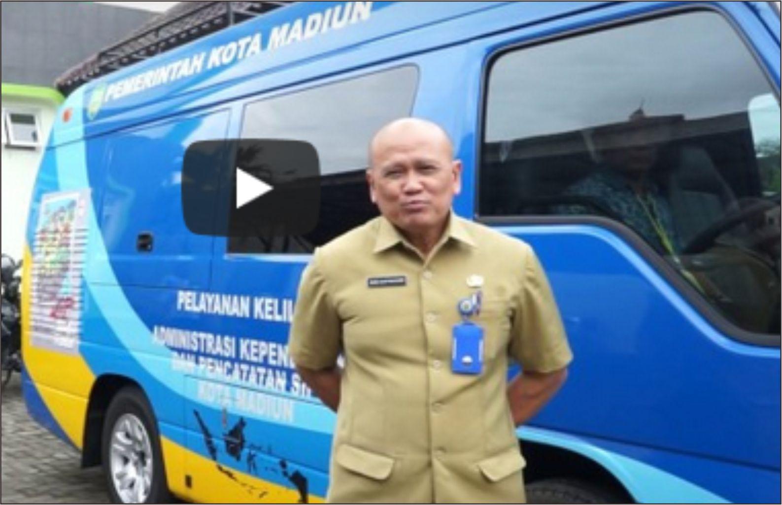 Dinas Kependudukan dan Catatan Sipil Kota Madiun, luncurkan Mobil e-KTP